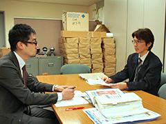 高石さんとのインタビューの様子